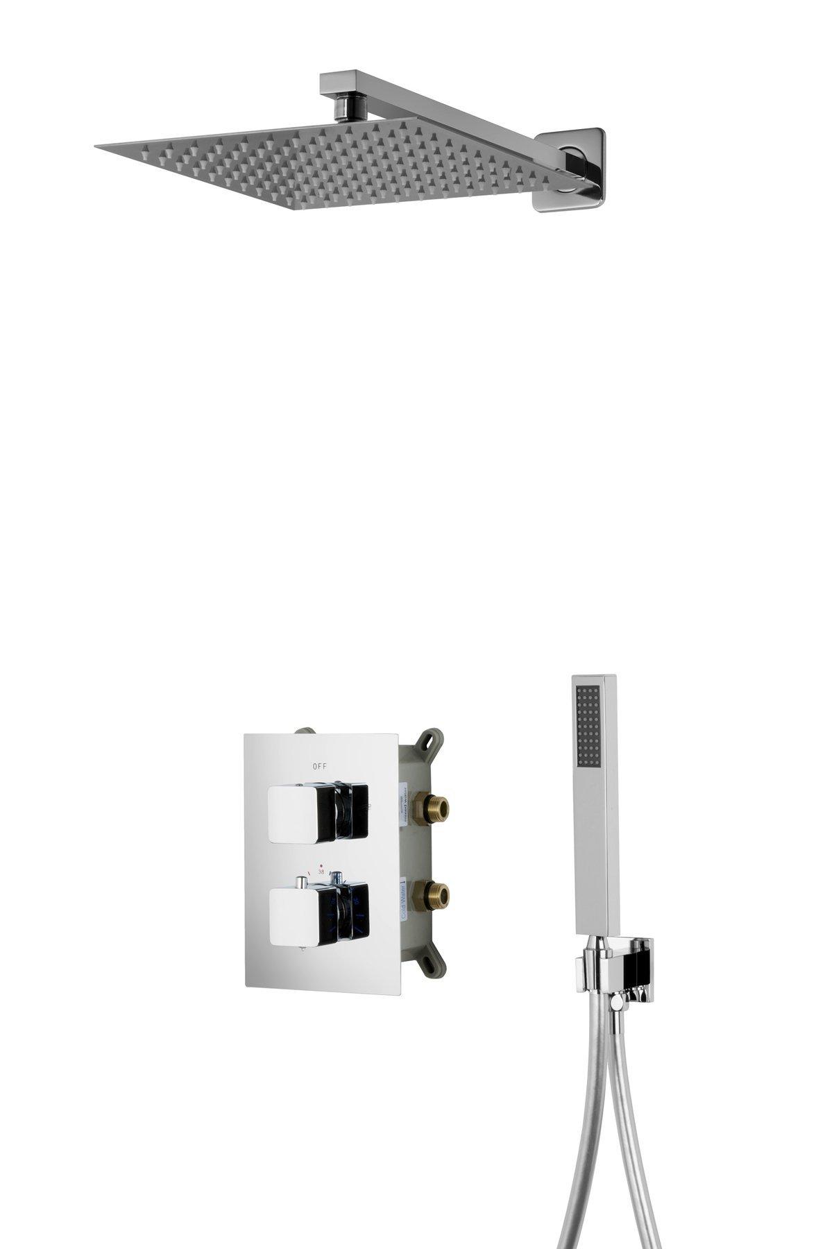 Sprchová súprava pre podomietkovú inštaláciu Corsan Z01TCH chróm s termostatom