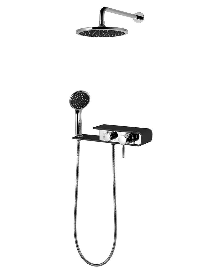 Sprchový set Corsan CMN001 Konekto podomietkový čierny
