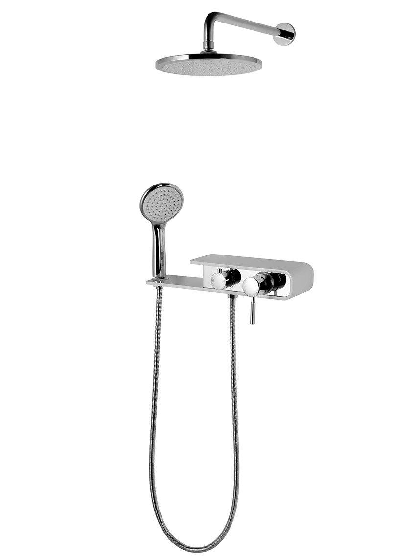 Sprchová súprava pod omietku Corsan CMN001 Konekto šedá